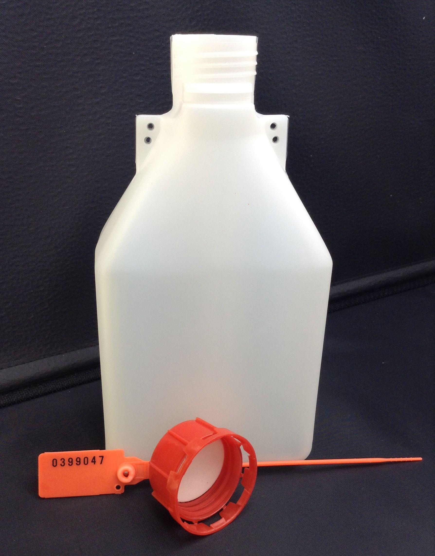 """Пластиковая бутылка """"Проба 1 литр"""" для взятия проб нефтепродуктов в комплекте с пломбой"""