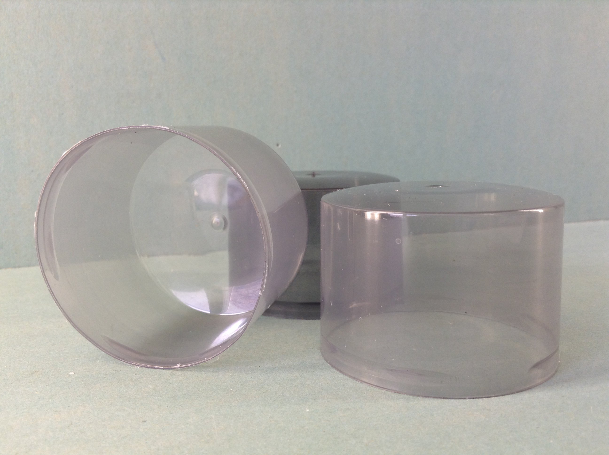 Колпачок 52 НЗК,  D=52 мм, h=35 мм (низкий) для аэрозольных баллонов, серый прозрачный